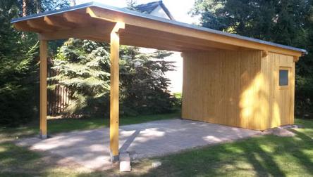 carport vom zimmermann dachdecker verband. Black Bedroom Furniture Sets. Home Design Ideas